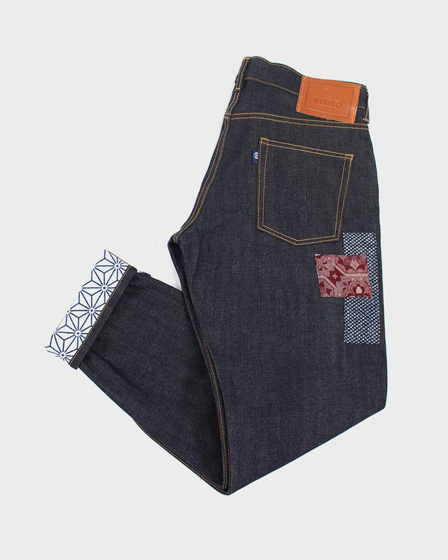 One Of A Kind Patched Japanese Selvedge Denim, Asanoha