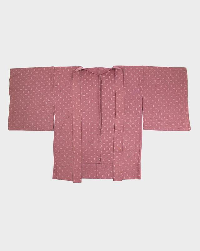 Vintage Kimono Haori Jacket, Mauve Collection