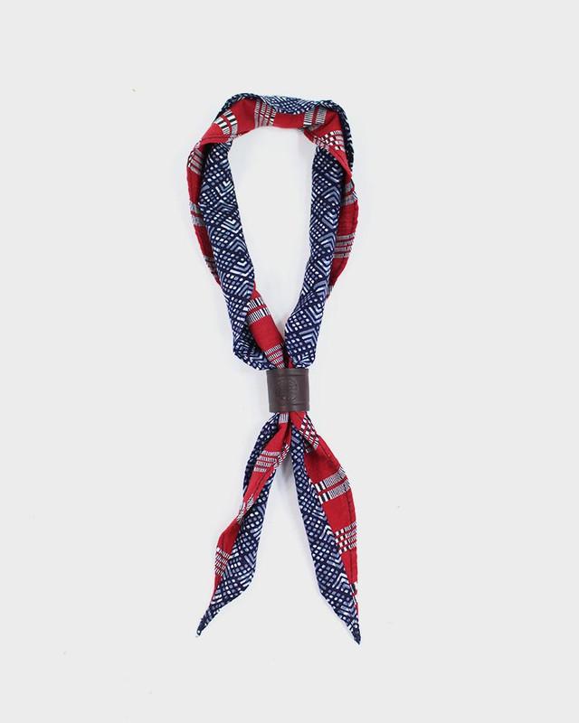 Split Neckerchief, Red Shuri-Ori and Blue