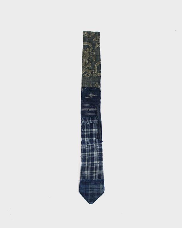 One of a Kind Boro Tie, Indigo