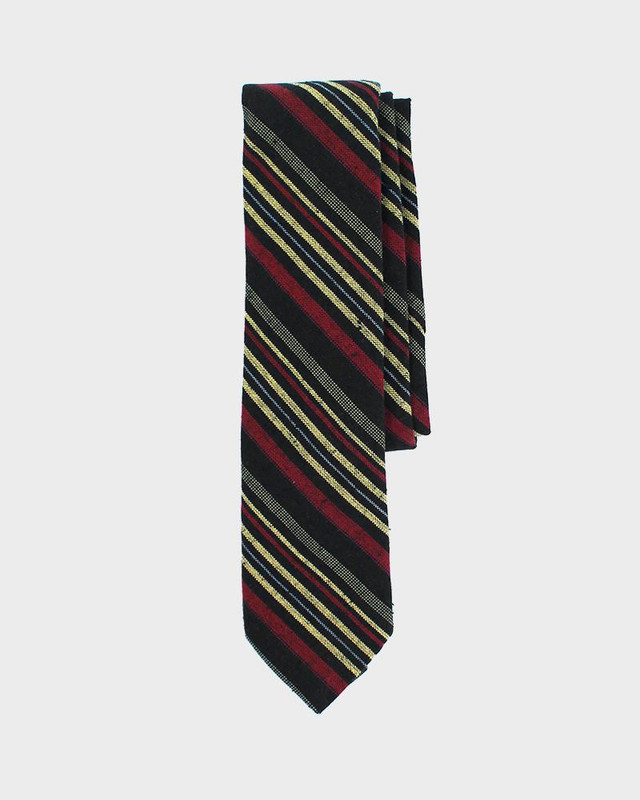 Tie, Red and Yellow Woven Shima