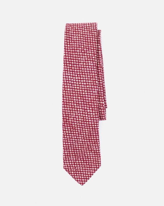 Tie, Red Shibori