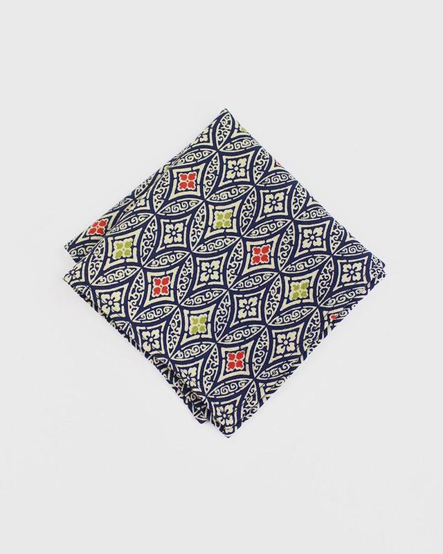 Pocket Square, Kimono Orange and Lime Shippou