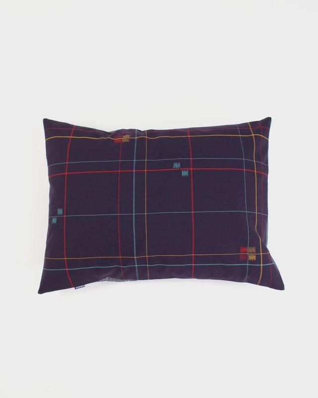 Pillow, Purple Kasuri Grid