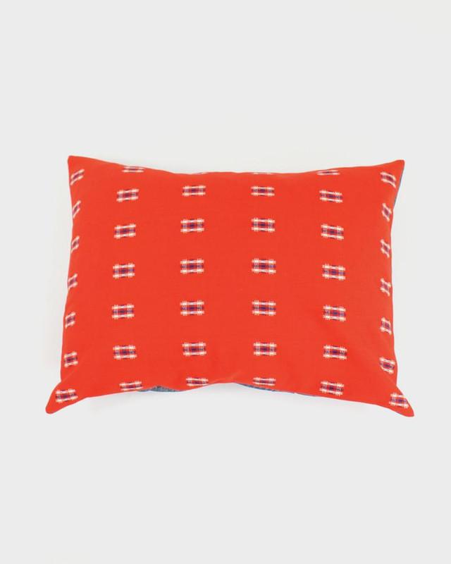 Pillow, Orange Kasuri Cross