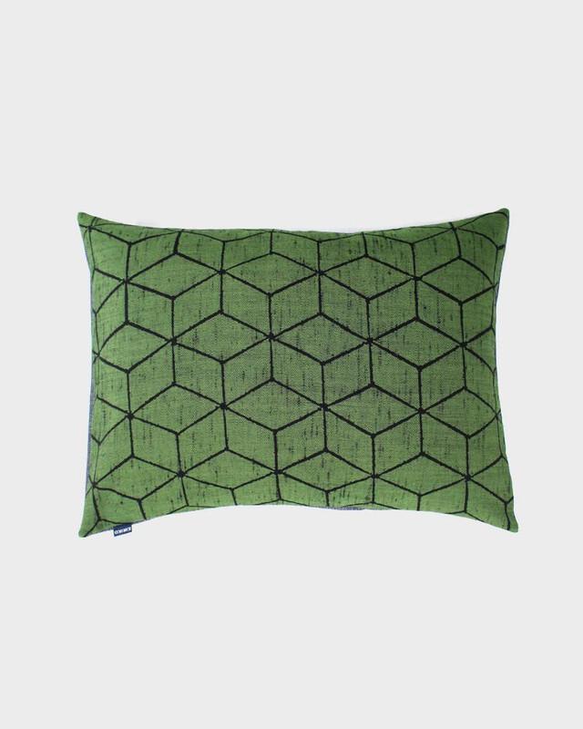 Pillow, Green Cubes
