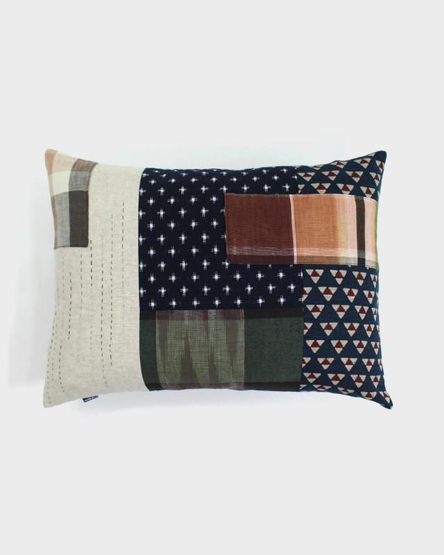 Patchwork Pillow, Uroko and Kasuri