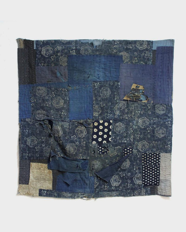 Vintage Boro Blanket, Katazome