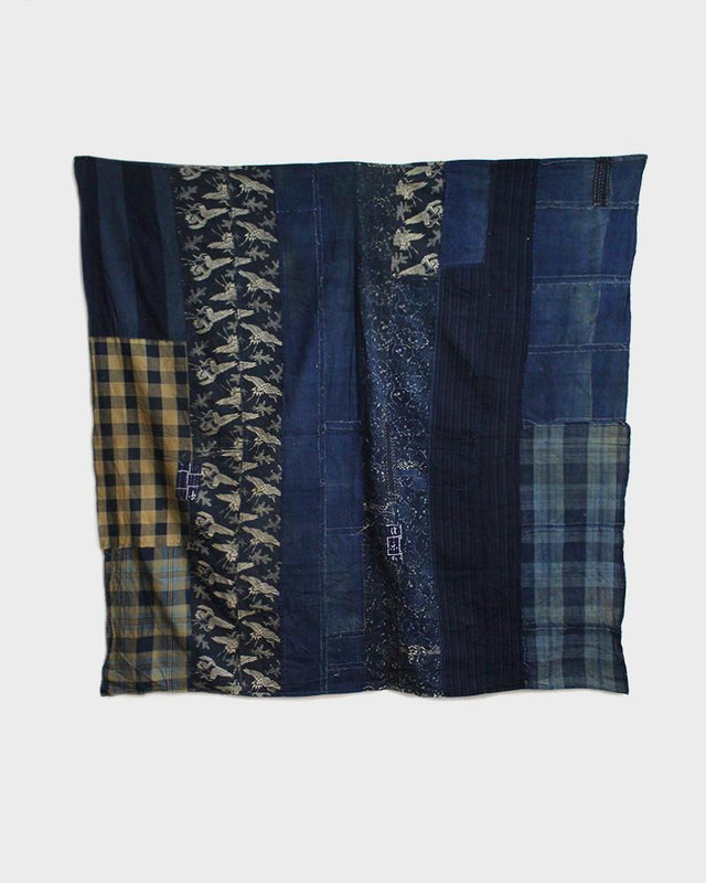 Vintage Boro Blanket, Vertical