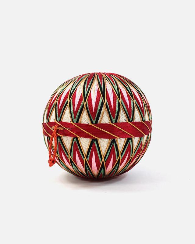 Vintage Temari Ball, Small Pink