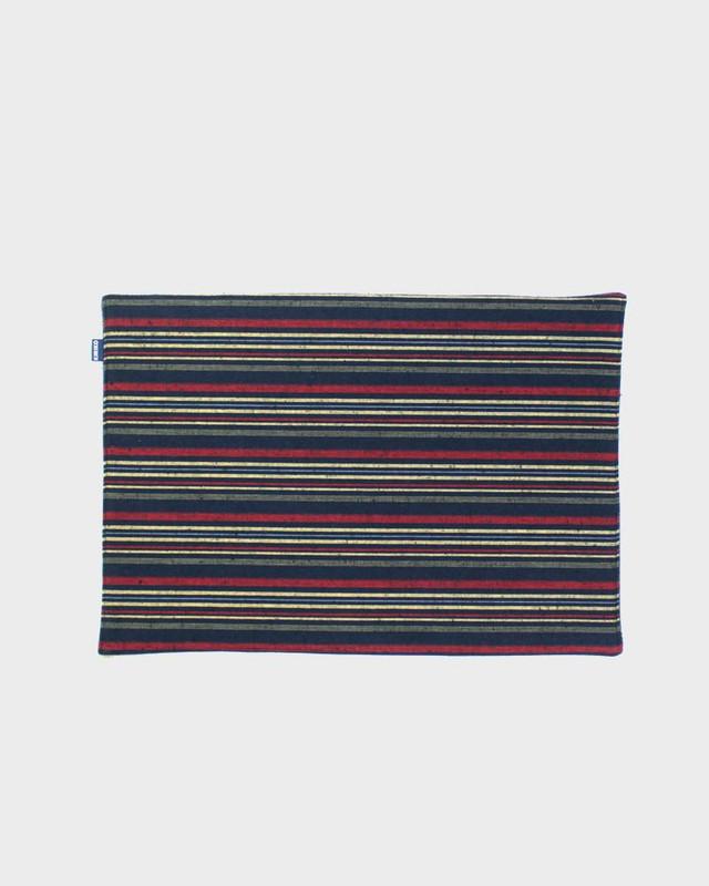 Table Mat x 4, Woven Stripe 02