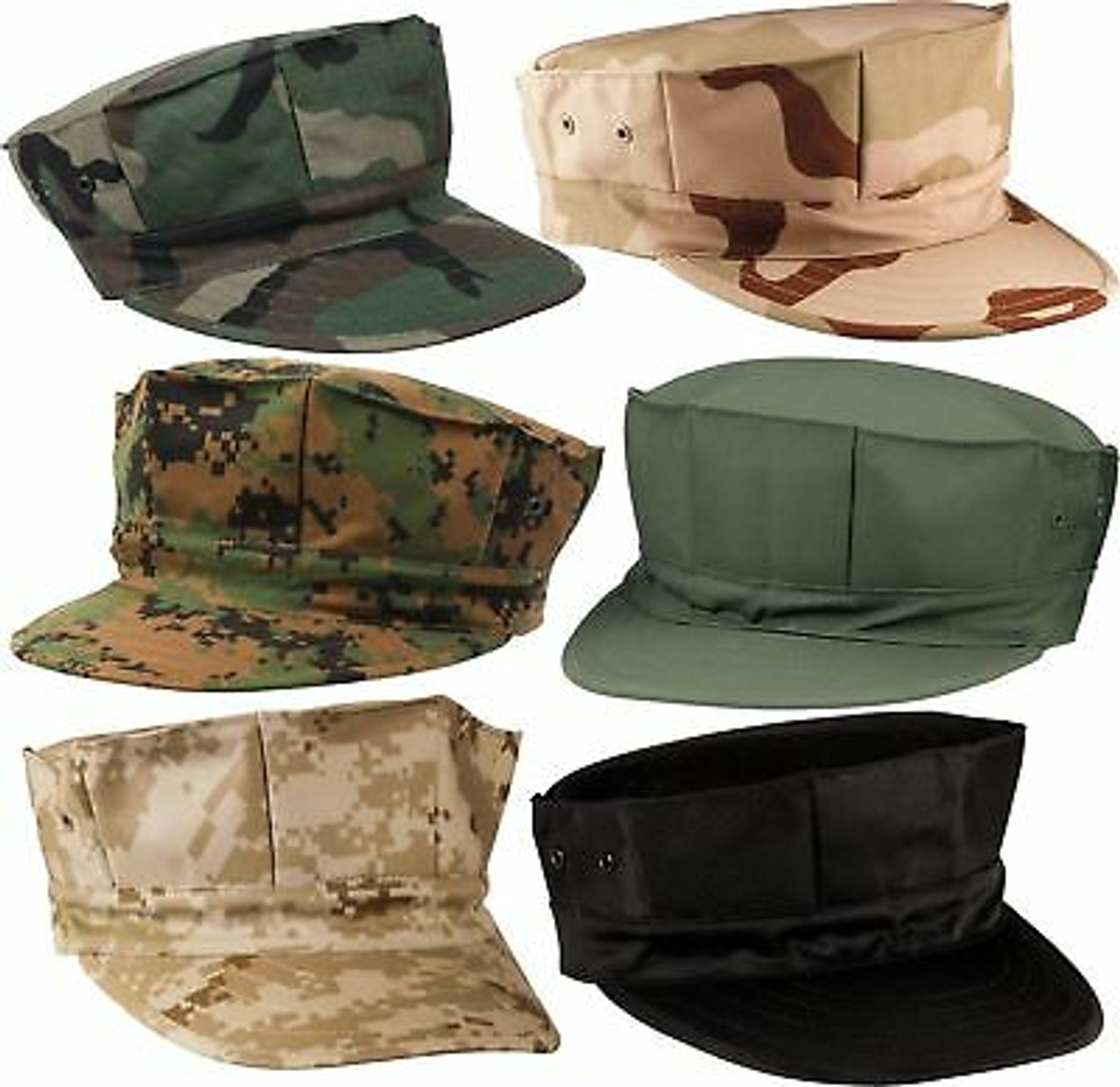 Marines Military Fatigue Hat BDU Cap 8 Point USMC Utility Cover Uniform Camo