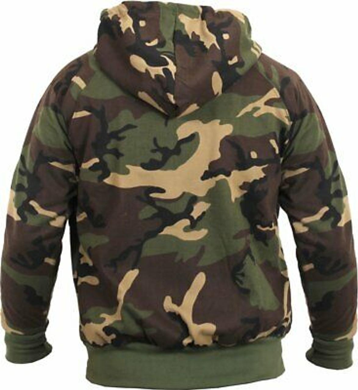 Woodland Camouflage Kids Hooded Sweatshirt Camo Hoodie Rothco 6490