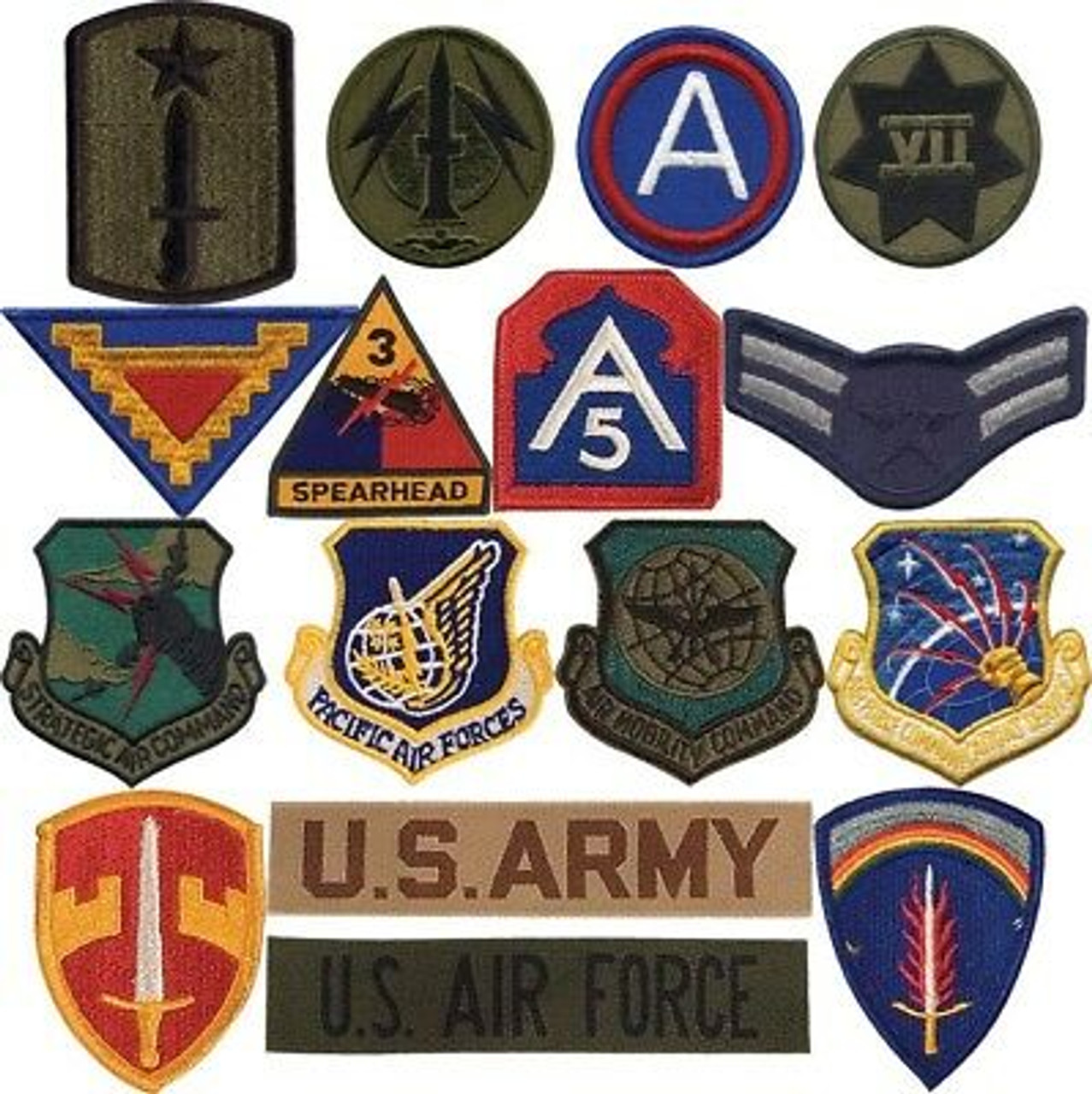 500 Patches Military Army Air Force Assortment Iron on Sew Patches