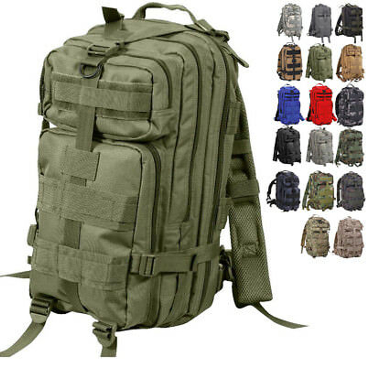 """Every Day Carry 17/"""" Expandable Tactical Assault Bag Day Pack Backpack Camo"""