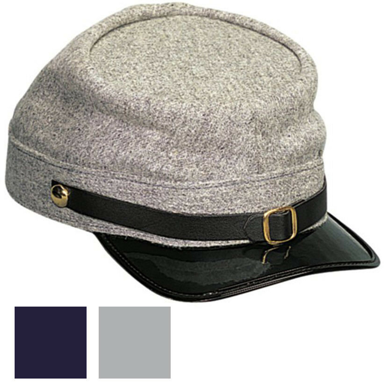 Civil War Wool Kepi In Confederate Grey or Union Navy Blue 5343-5344 Rothco