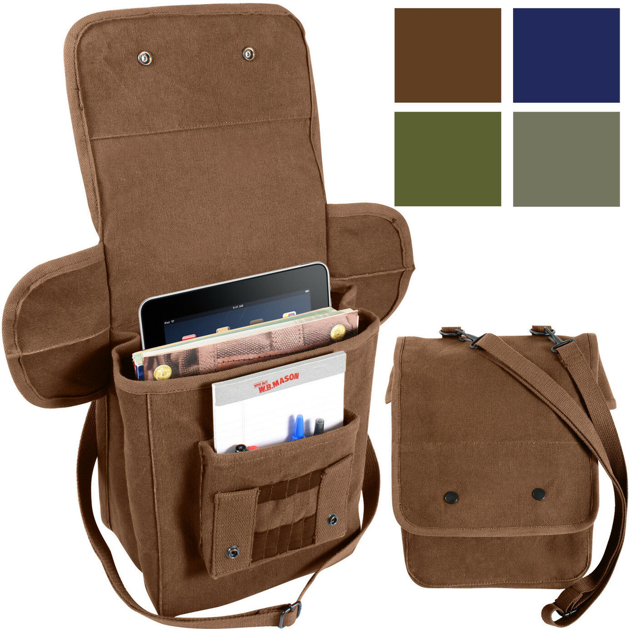Army Olive Drab Military Tavtical MOLLE Tech ipad Tablet Pouch Shoulder Bag 9760