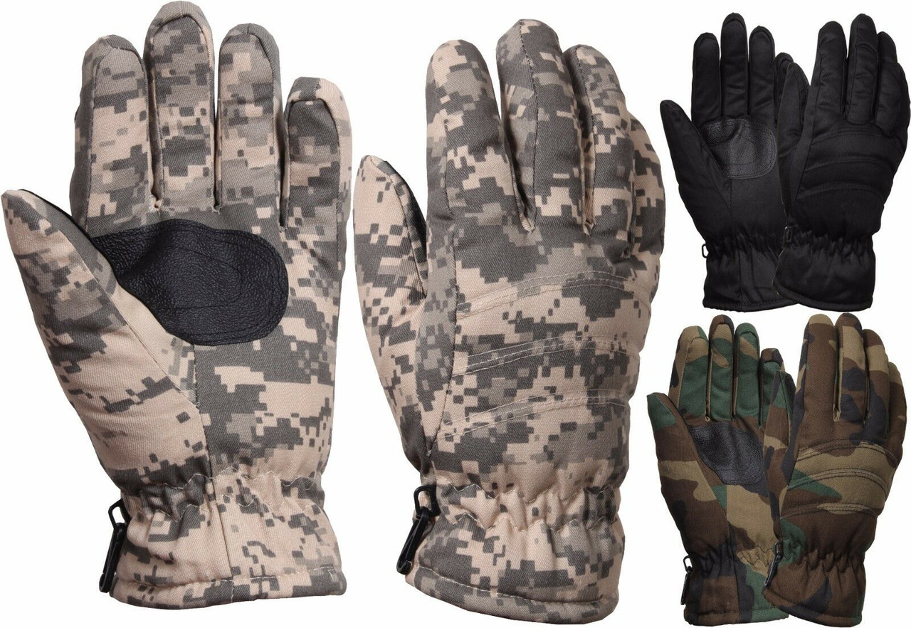 Hunting Gloves Army Military Tactical Leather Shooting Camouflage Pilots Long