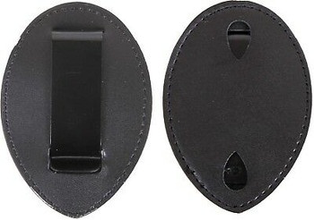 Cut Out Clip On Leather Special Police Shield Law Enforcement Badge Holder 1135