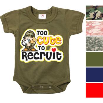 Infant Thin Blue Line One Piece Bodysuit Baby Support Law Enforcement 2273