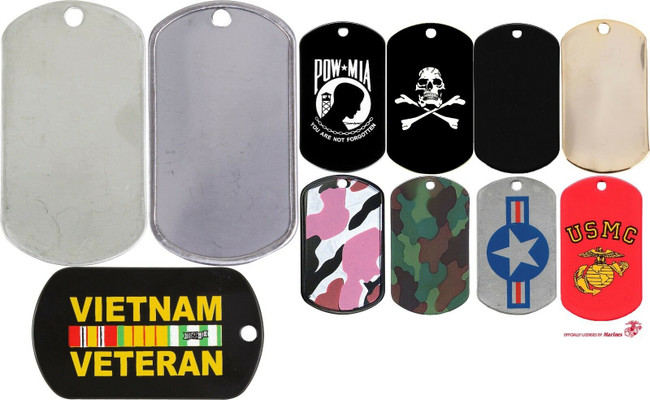 Stainless Steel Dog Tag Stenciled ID Dog Tag