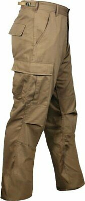 Coyote Brown Military BDU Cargo Polyester/Cotton Fatigue Pants