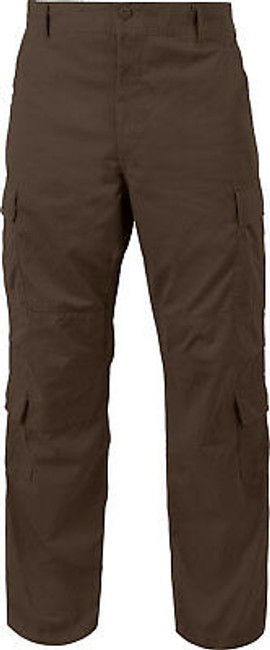 Brown Vintage Paratrooper Pants Tactical Military BDU Fatigues
