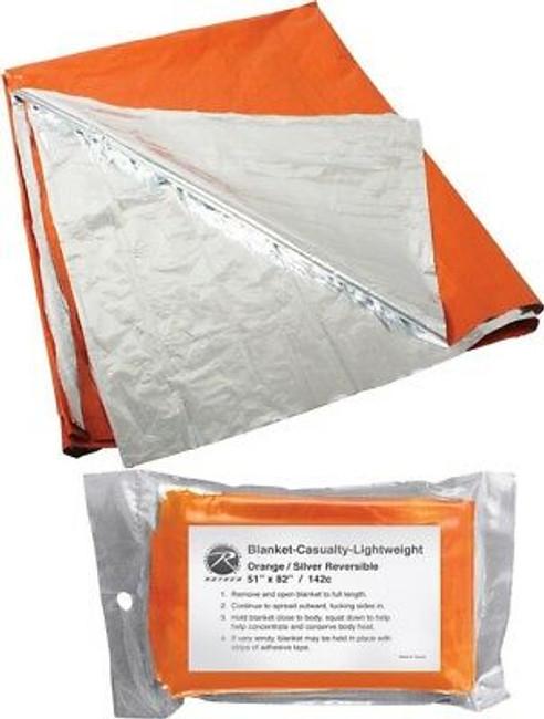 Orange & Silver Reversible Polarized Polarshield Survival Blanket
