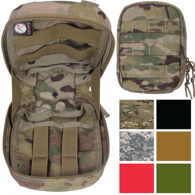 Trauma & First Aid Kit Pouch Medical Supply Small Tactical Case Bag MOLLE