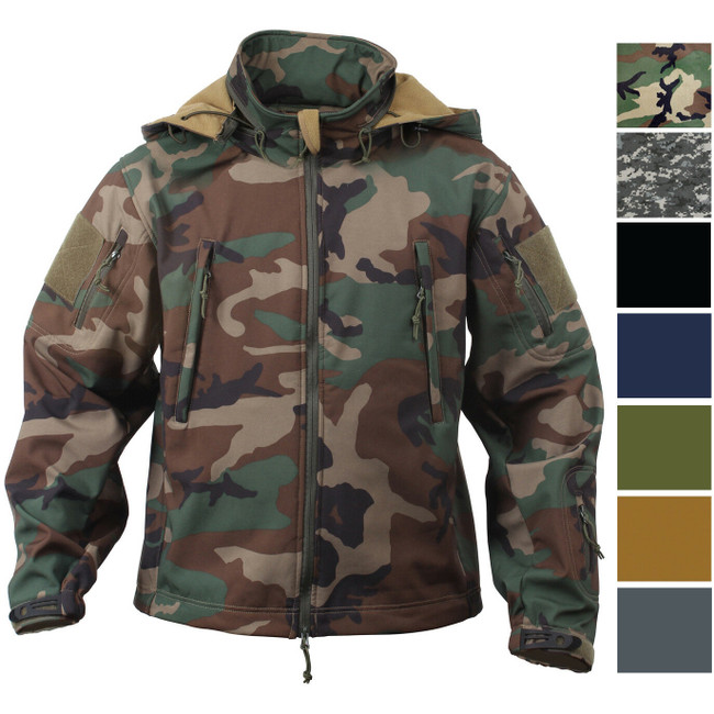 Tactical Soft Shell Waterproof Jacket Fleece Lined Military Army Hooded Coat