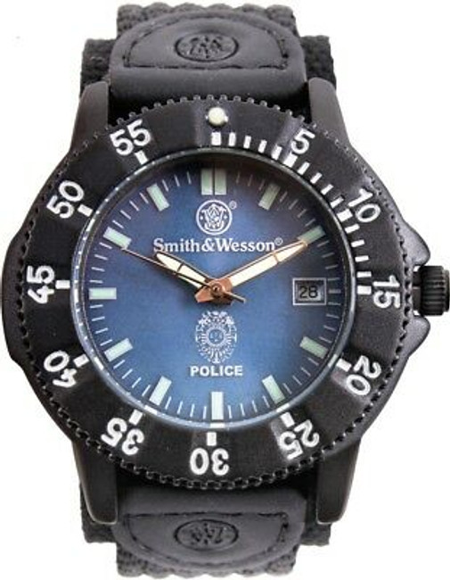Smith & Wesson Black Tactical Analog Police Watch