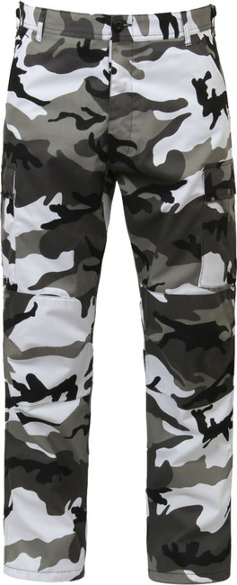 City Camo Cargo Army Fatigues Military BDU Pants Urban Metro Gray Camouflage