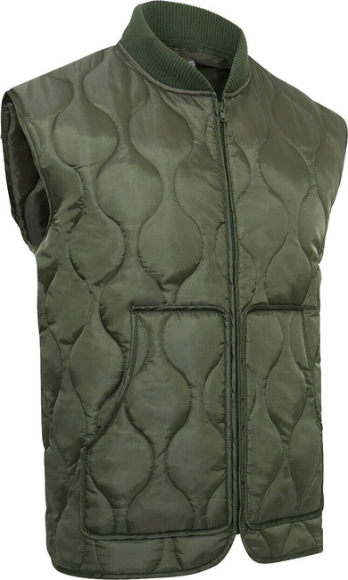 Quilted Lightweight Woobie Vest Poncho Liner Inspired Zip Up Sleeveless