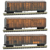 MICRO TRAINS 99305580 PFE - Pacific Fruit Express Weathered 3-Pack  (SCALE=N)  PART # 489-99305580