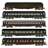 MICRO TRAINS 993 01 990 N de M - Nacionaled de Mexico Heavyweight Passenger Car 5 Pack  (SCALE=N)  PART # 489-99301990