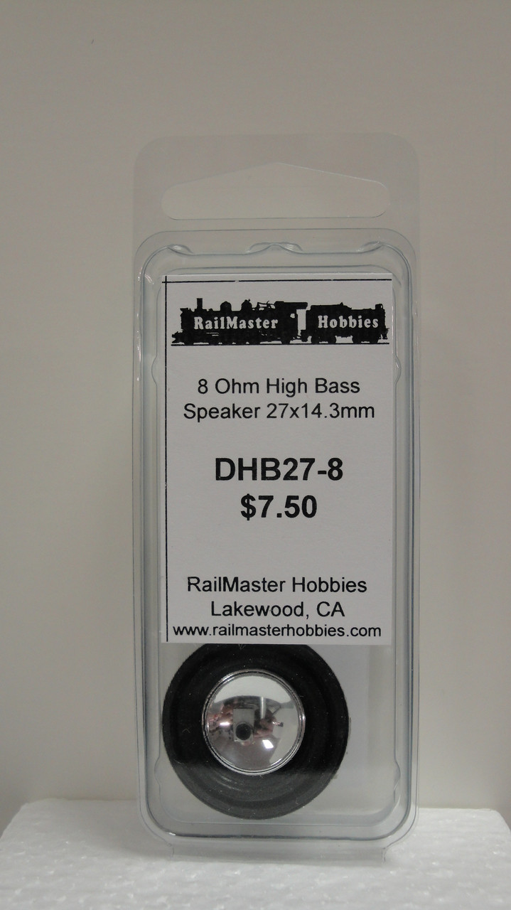 DHB27-8 Rail Master / Speaker 27 x 14.3 mm 8 Ohm (Scale=HO) Part # = RMT-DHB27-8