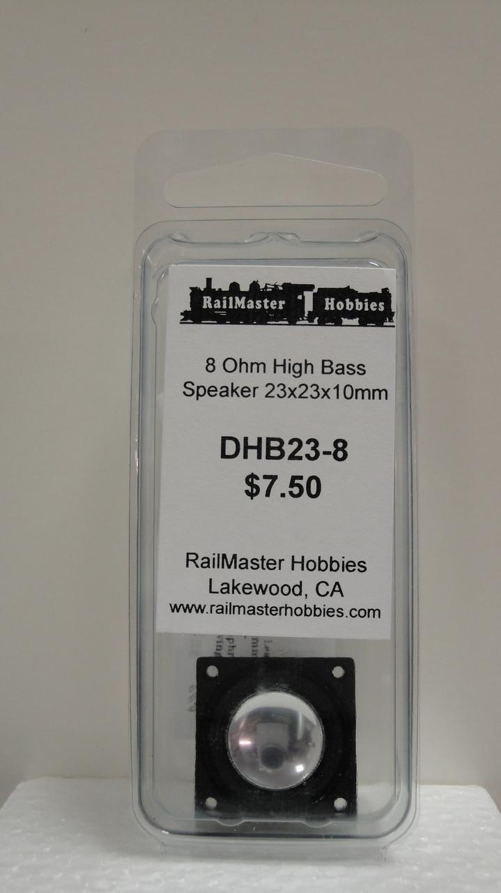 DHB23-8 Rail Master / Speaker 23 x 23 x 10 mm 8 Ohm (Scale=HO) Part # = RMT-DHB23-8