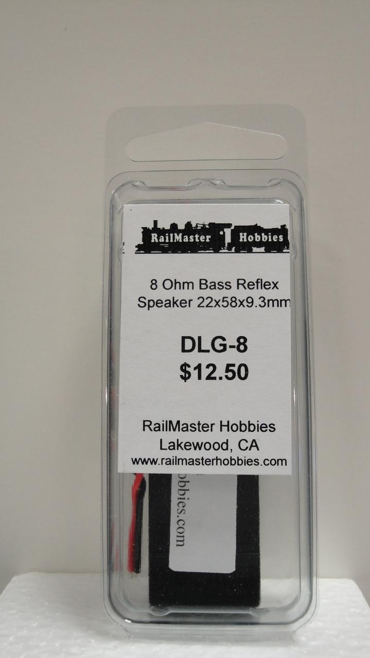 DLG-8 Rail Master / Speaker 22 X 58 X 9.3 MM 8 Ohm (Scale=HO) Part # = RMT-DLG-8