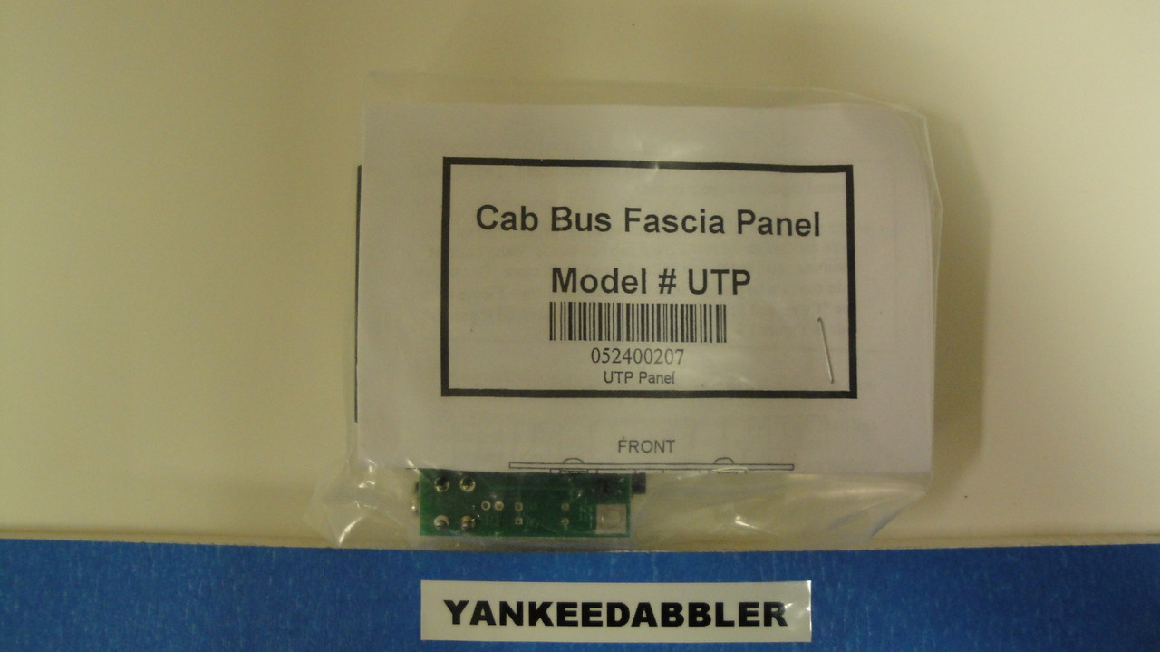 207 NCE /  UTP Cab Bus Fascia Panel -- RJ12 (T (SCALE=ALL) Part # = 524-207