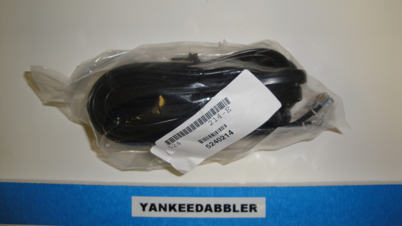 214 NCE /  6-Wire Straight Cab Bus Cable -- RJ (SCALE=ALL) Part # = 524-214