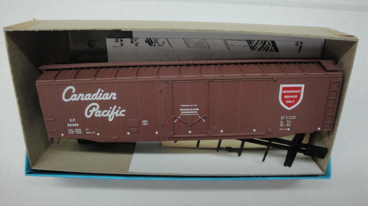 842-2 (HO SCALE) Bev-Bel-66-842-2 Canadian Pacific 50 Plug Door Boxcar CP  80489
