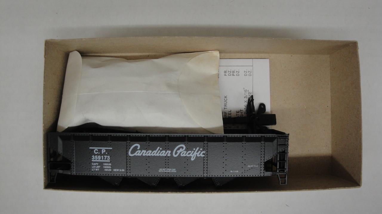 1913 (HO SCALE) Bev-Bel-66-1913 Canadian Pacific 40  Open Top Quad Hopper CP 359173