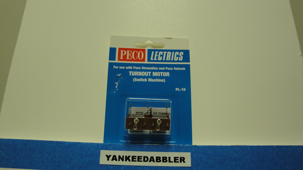 PL-10 Peco / PL-10 Twin Coil Switch Machine Standard Pin Standard Current (SCALE=ALL ) Part # 552-PL-10