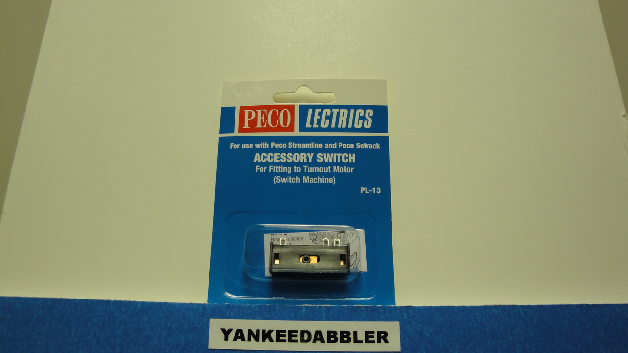 PL-13 Peco / PL-13 SPDT Accessory Switch for PL-10 Series Switch Machines (SCALE=ALL ) Part # PCO-PL-13