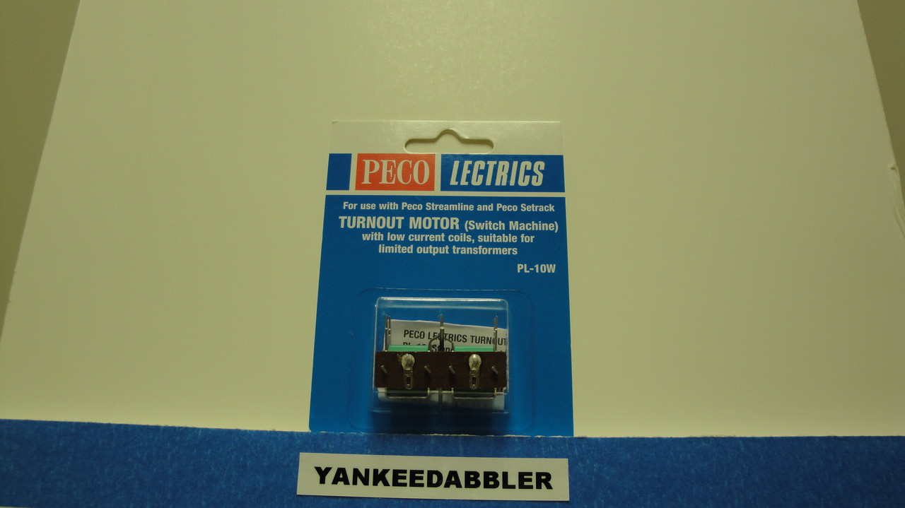 PL-10W Peco / PL-10W Twin Coil Switch Machine Standard Pin Low Current (SCALE=ALL ) Part # 552-PL-10W