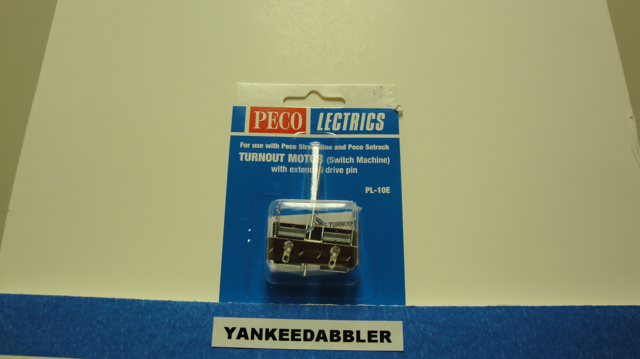 PL-10E Peco / PL-10E Twin Coil Switch Machine  Extended Pin Standard Current (SCALE=ALL ) Part # 552-PL-10E