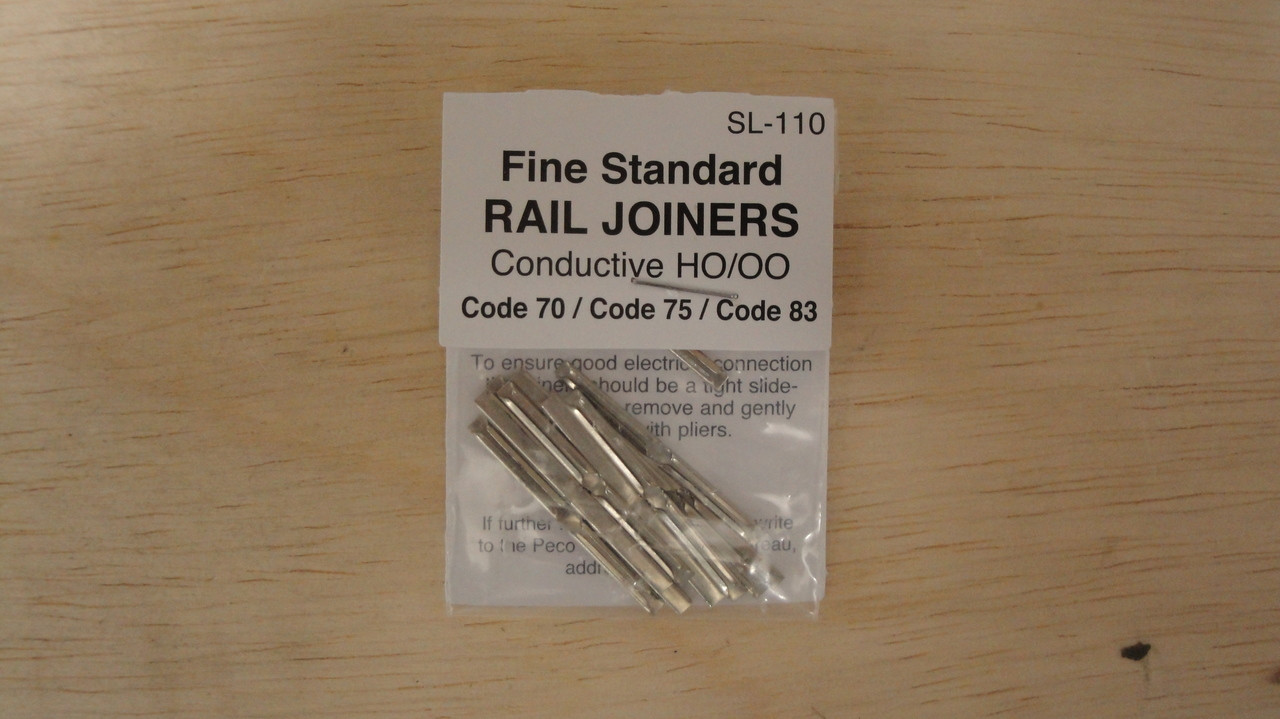 SL-110 Peco / SL-110 Code 75 Rail Joiners  1 package of 24 (SCALE=HO ) P Part # PCO-SL-110