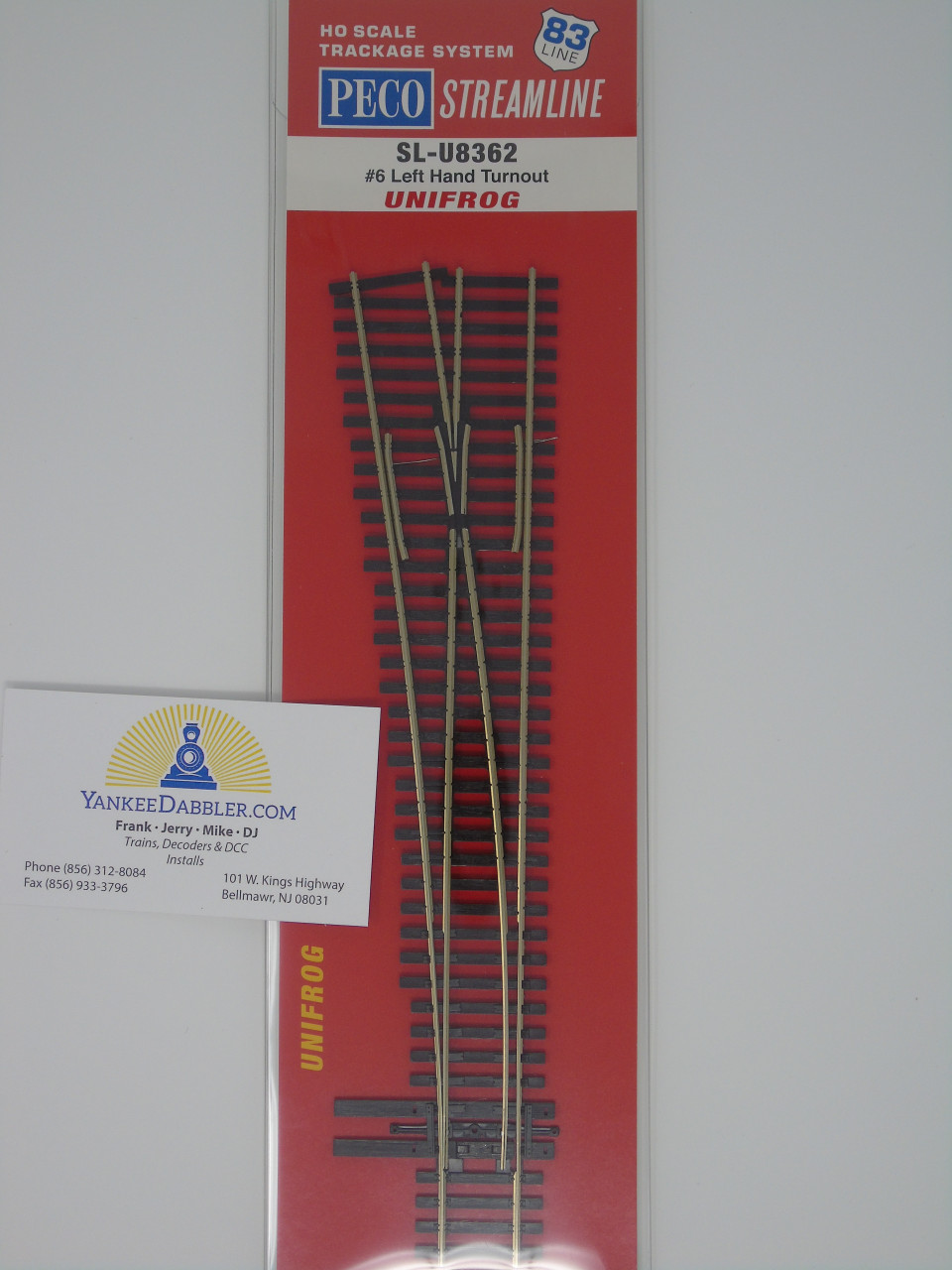 Peco SL-U8362 6 Left-Hand Unifrog Turnout HO Scale replaces SL-8362 & SL-E8362