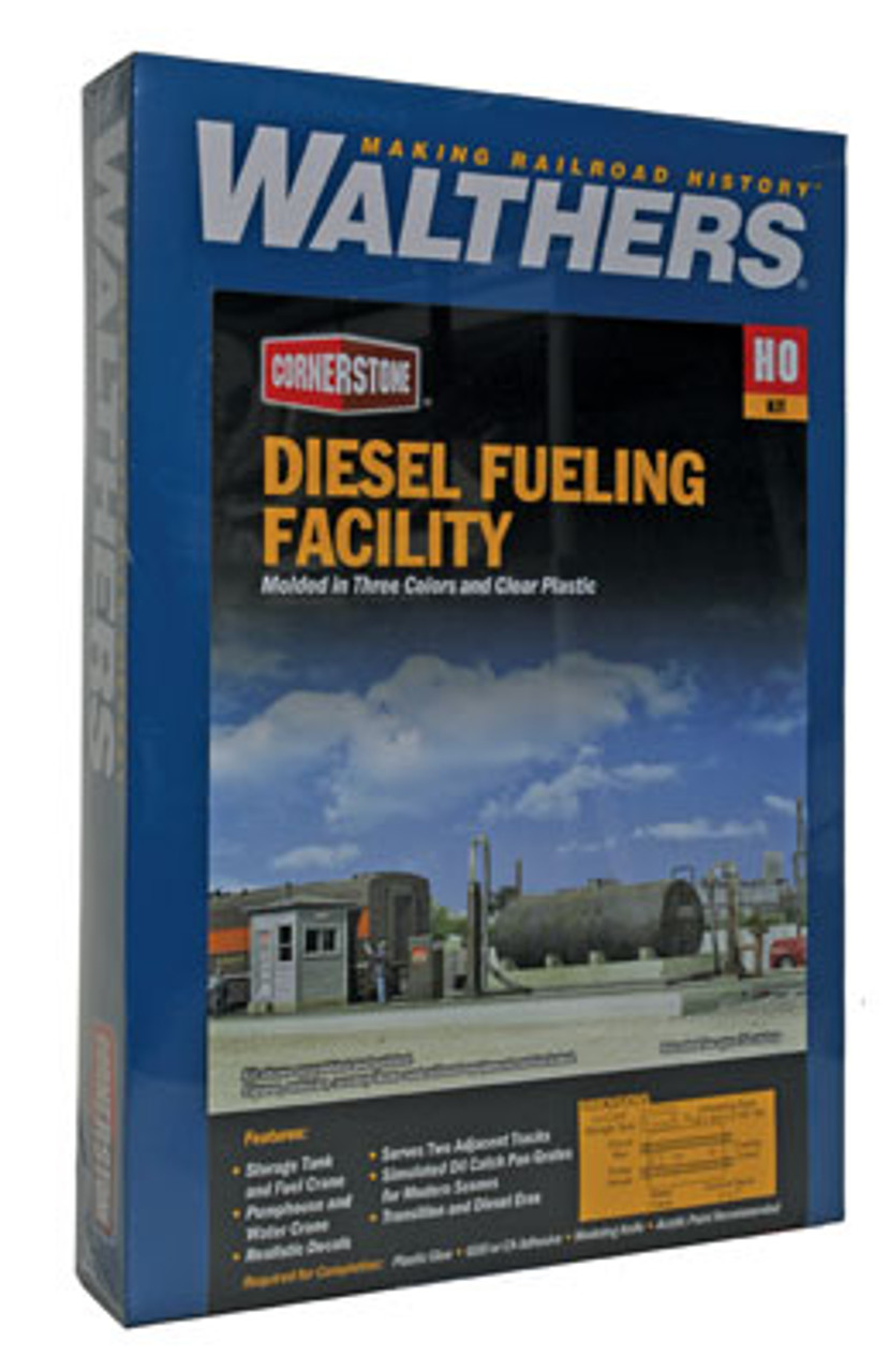2908 Walthers Diesel Fueling Facility (Scale=HO) Cornerstone Part#933-2908
