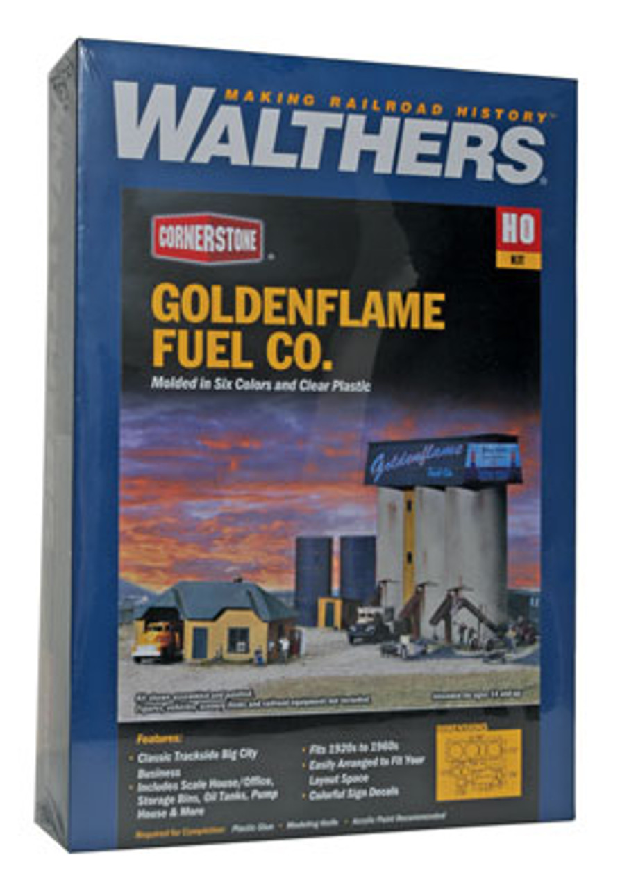 3087 Walthers Goldenflame Fuel Co. (Scale=HO) Cornerstone Part#933-3087